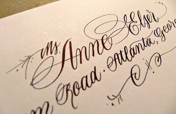 Anne elser calligraphy