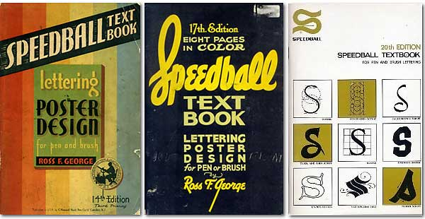 Speedball Textbook calligraphy