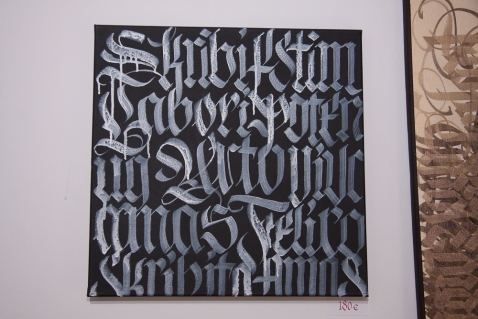 Theos one calligraphy