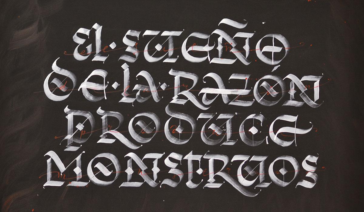 Kirill Tkachev calligraphy